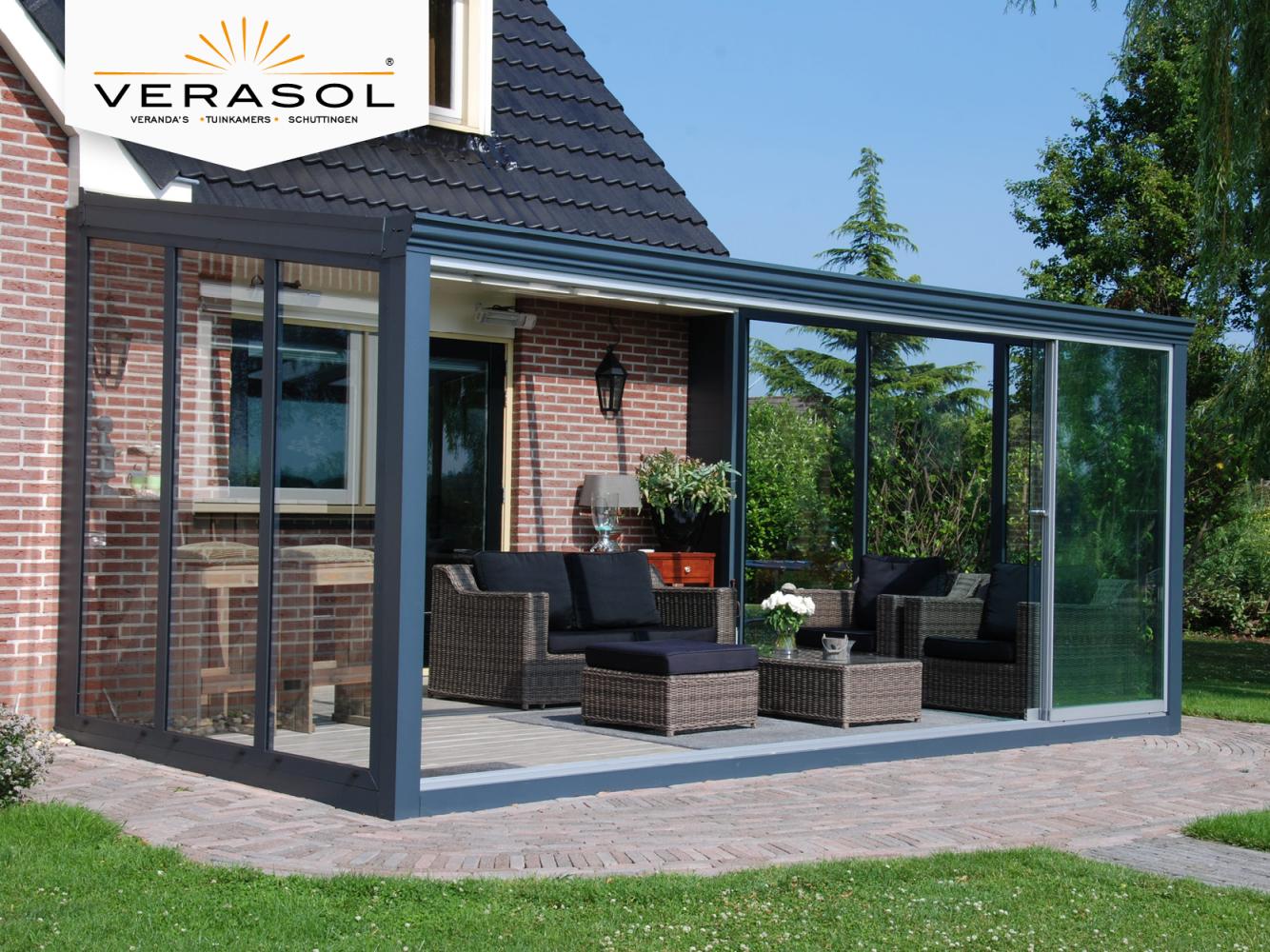 Tuinkamer en verandadak • Bastasol Zonwering & Outdoor Living